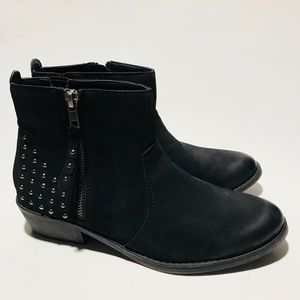 Sonoma Faux Leather Black Booties Sz. 9